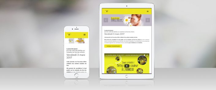 design-graphique-site-internet-journee-jaune-amfe-paris-responsive-design