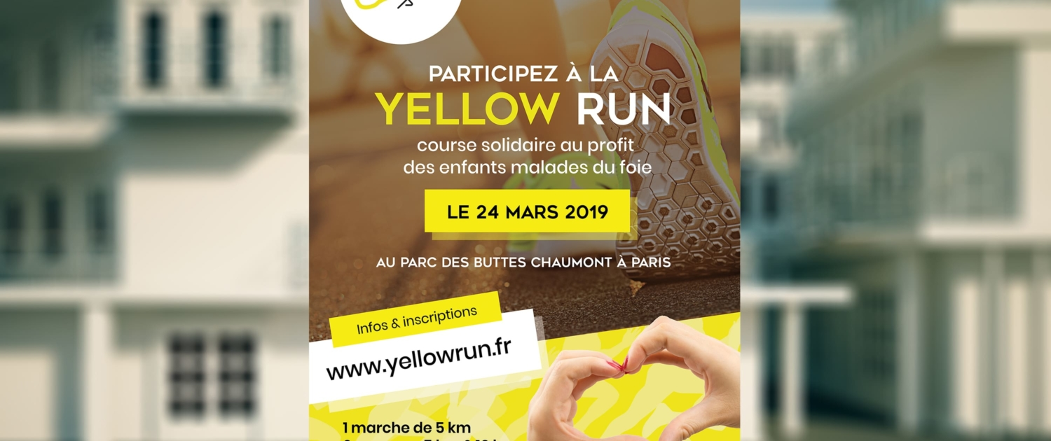 graphiste-montpellier-paris-course-solidaire-paris-yellow-run-affiche-publicitaire