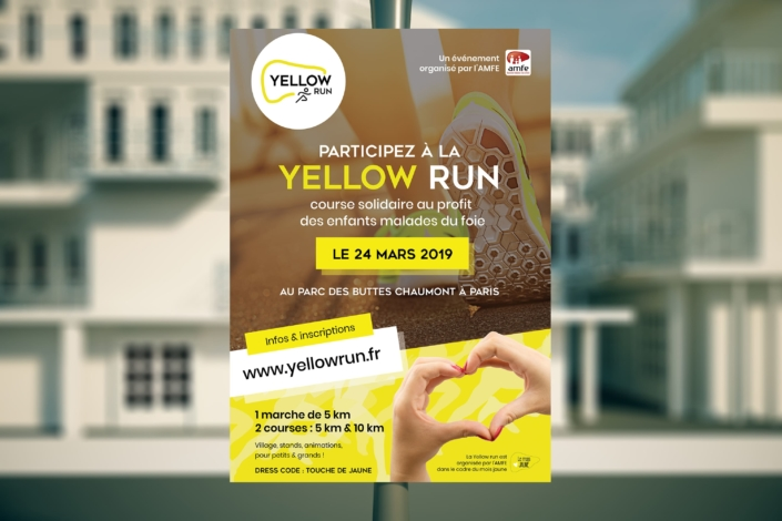 graphiste-montpellier-paris-course-solidaire-paris-yellow-run-affiche-publicitaire
